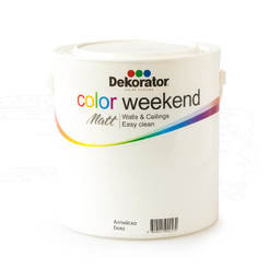 Латекс Color Weekend Алпийско бяло 2.5л