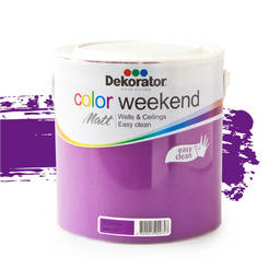 Латекс Color Weekend Кралски аметист 2.5л