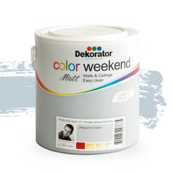 Латекс Color Weekend Сребърно езеро мат 2.5л