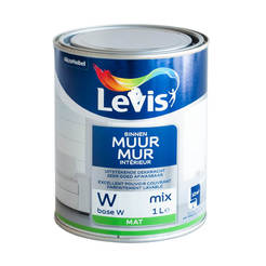 Латекс миещ се Levis Muur Latex Mix база W кадифено-матов, 2.5л