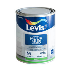 Латекс миещ се  Levis Muur Latex Mix база М 1л., кадифено-матов