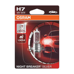 Автомобилна крушка H7 Night Breaker Silver - 12V/55W, +100% повече светлина