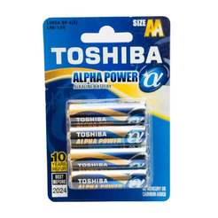 Батерия Alpha Power LR06(AA)- 4бр/блистер TOSHIBA